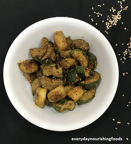Zucchini potato stir fry recipe
