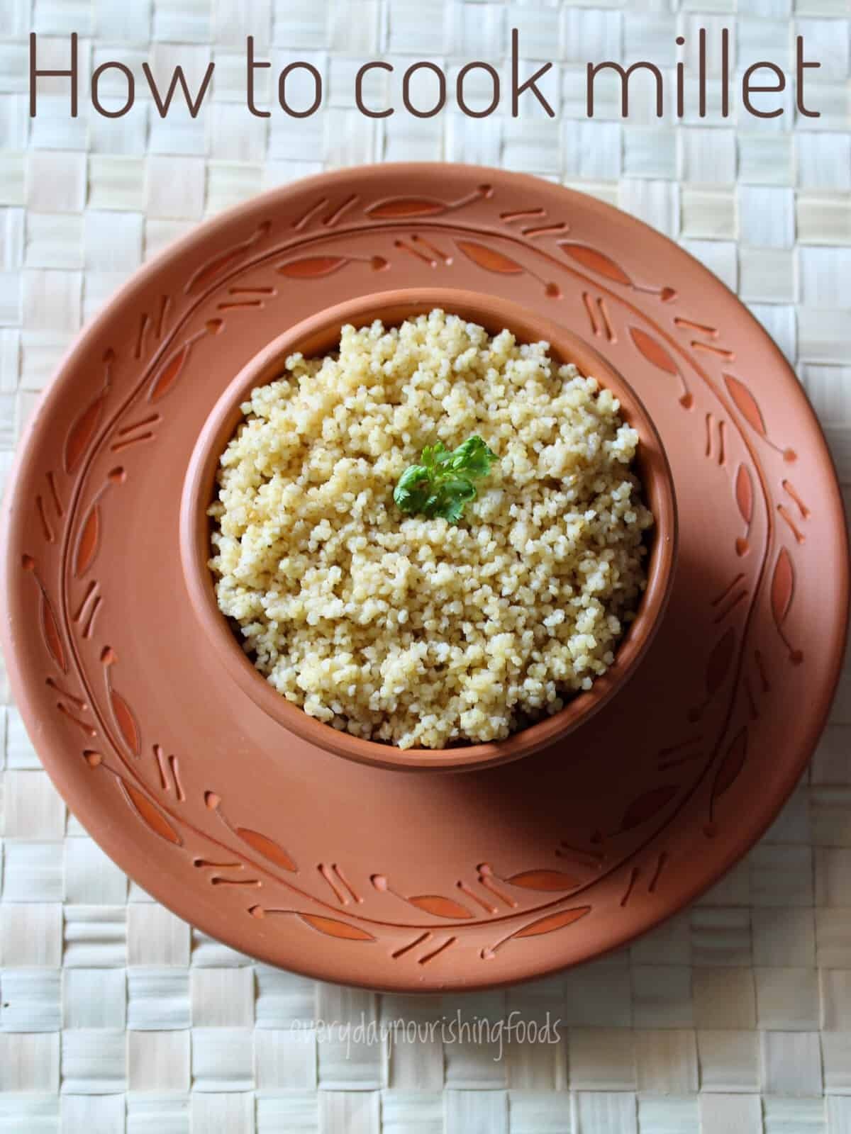 how to cook foxtail millet recipe