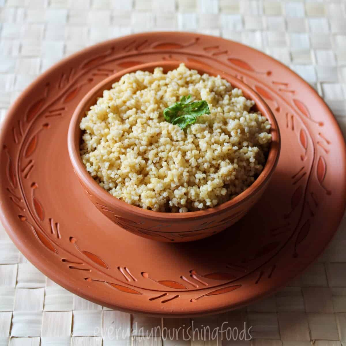cooked millet in a bowl