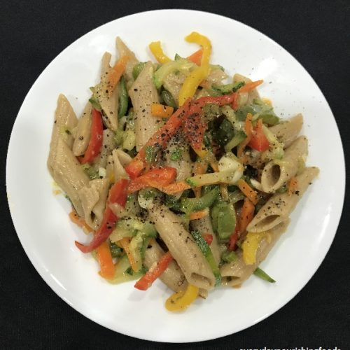 Mixed vegetable penne pasta recipe