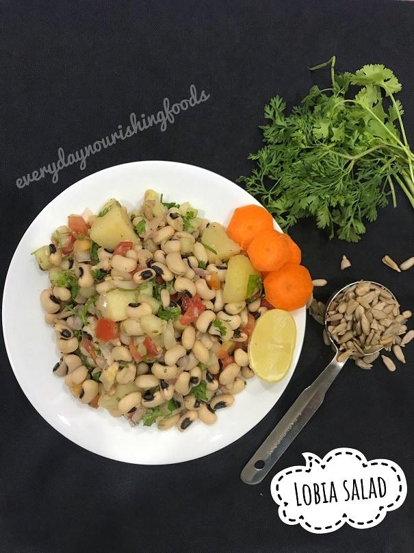Cowpeas salad | Lobia salad