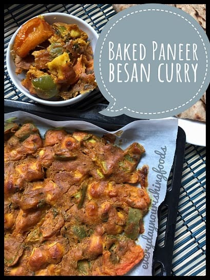 Baked Paneer Besan dry curry recipe