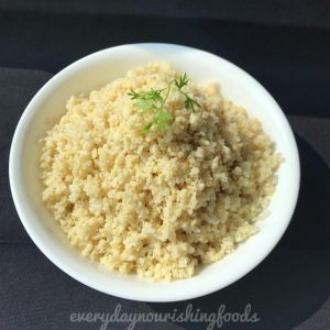 How to cook millet
