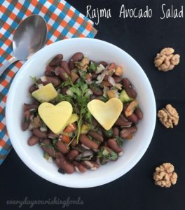Kidney beans -Rajma - Avocado salad