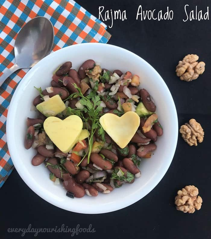 Kidney beans salad with Avocado – Rajma salad