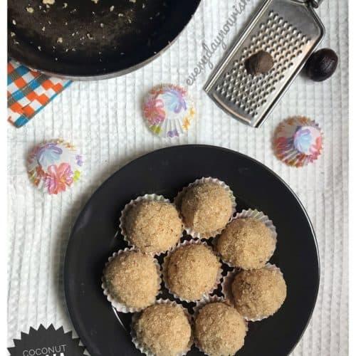 Coconut rava ladoo recipe