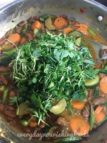 vegetable rajma curry steps