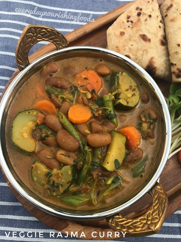 Vegetable rajma curry | Kidney beans vegetable curry