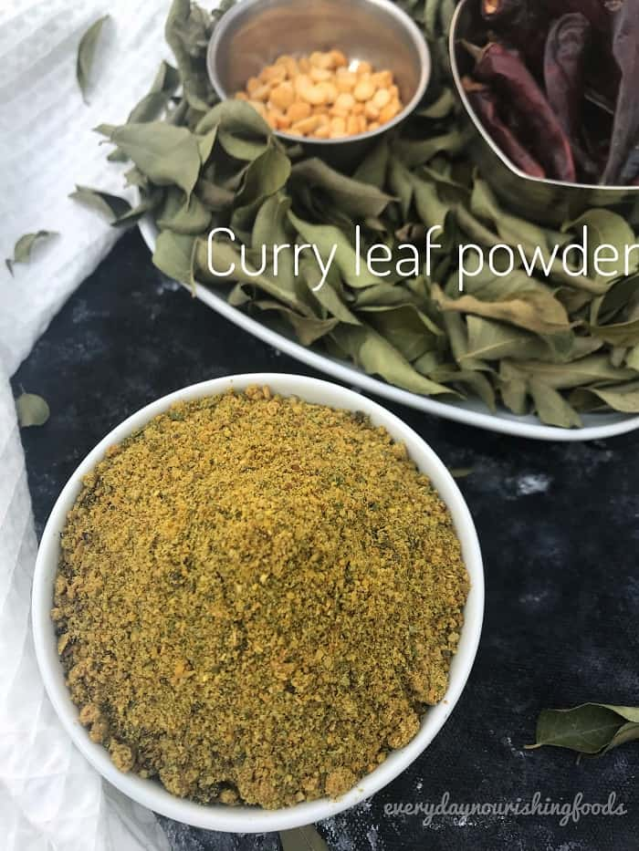 Karivepaku podi - curry leaf powder recipe