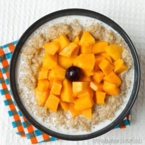 quinoa pudding in a bowl