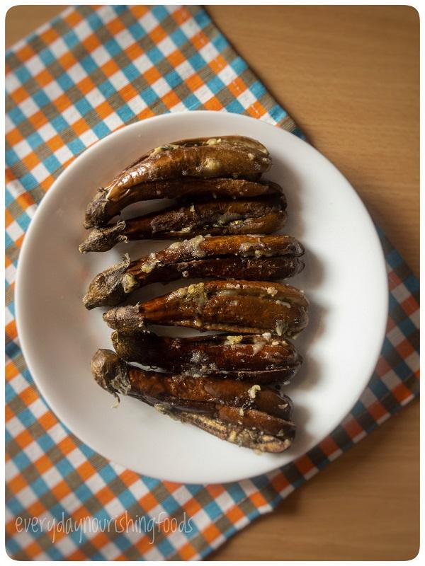 baked brinjal - baked eggplant