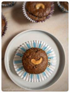 Banana passionfruit muffins