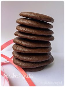 Buckwheat chocolate cookies