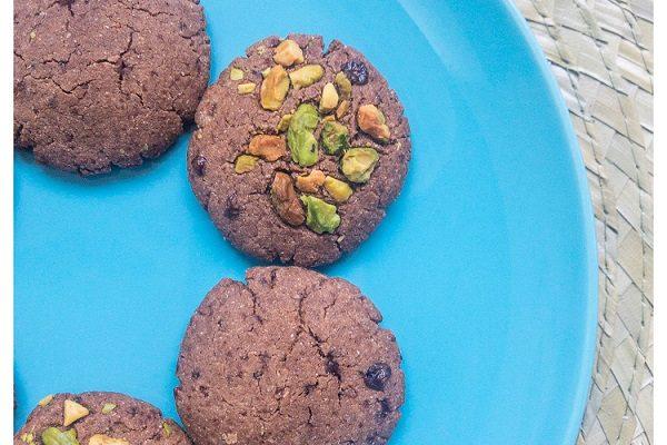 Millet chocolate cookies