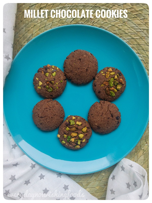 Millet chocolate cookies