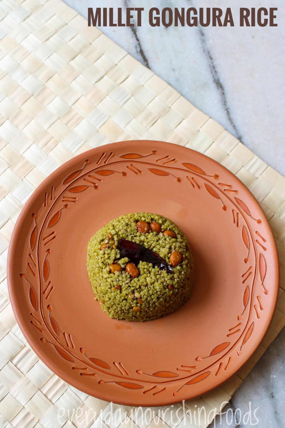 Gongura pulihora recipe image
