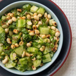 cucumber peanut salad featured image