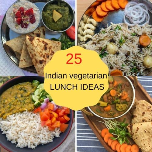 Indian vegetarian lunch ideas featured image