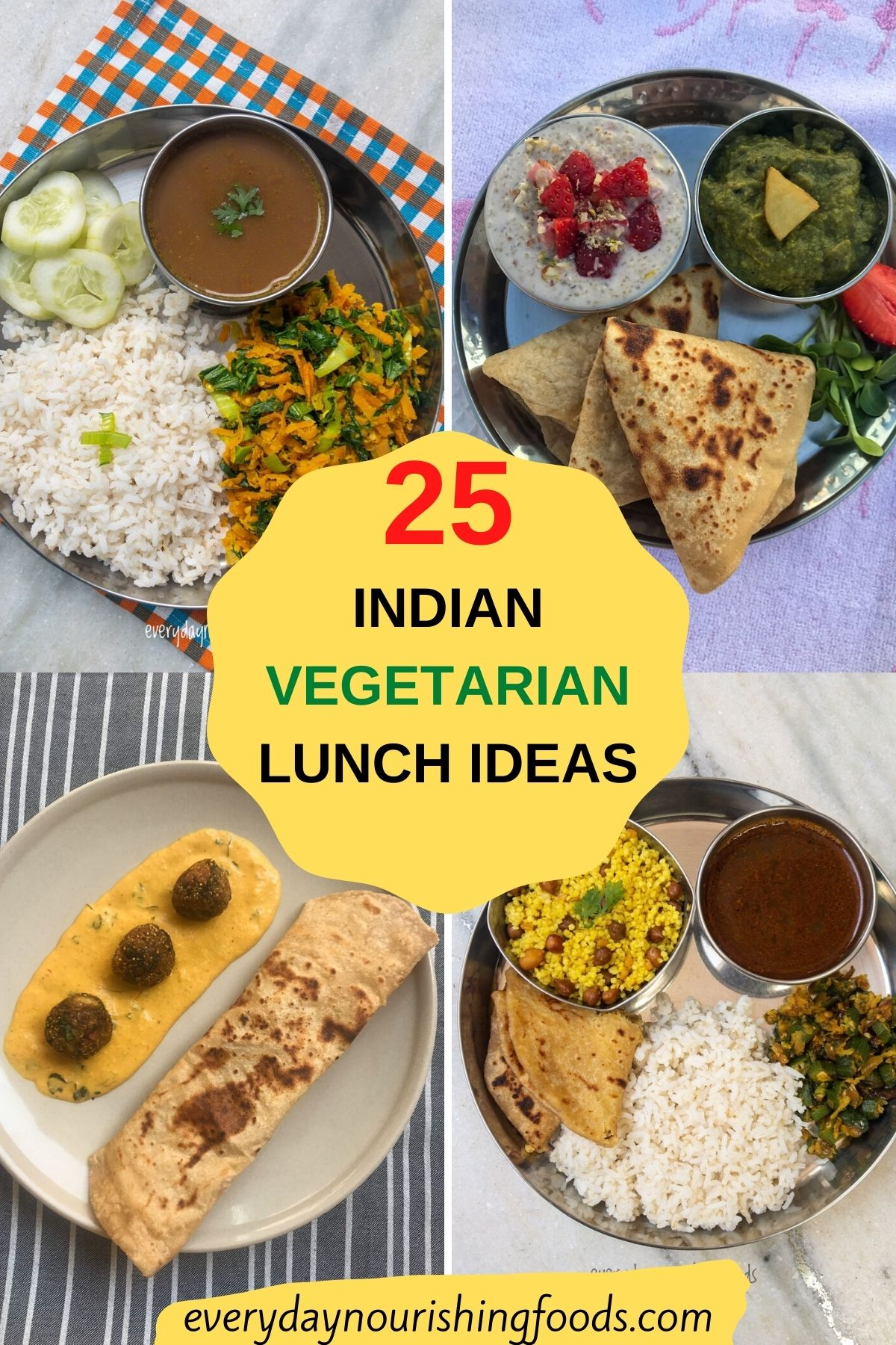 Indian vegetarian lunch ideas image
