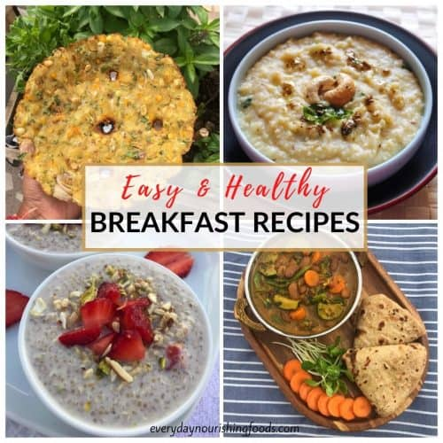 easy and healthy breakfast recipes collage image