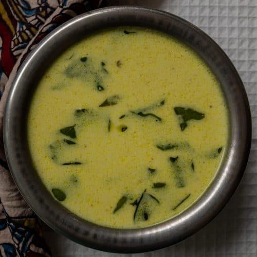 kobbari charu in a bowl