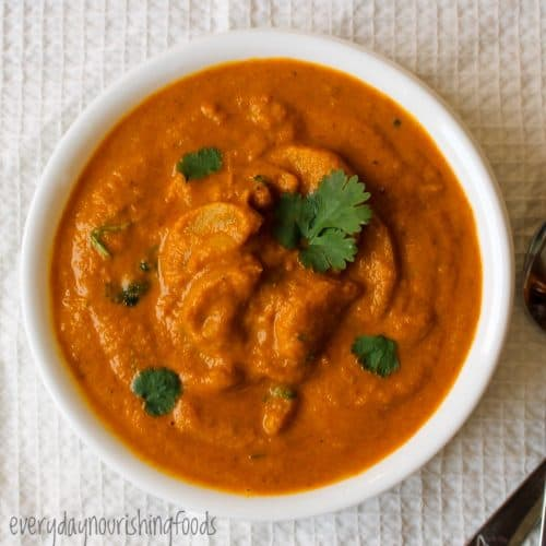 zucchini curry in a bowl