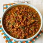 black eyed peas curry in a bowl