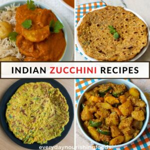 indian zucchini recipes collage